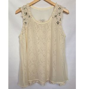 Miss Me Jeweled Lace Tank Top